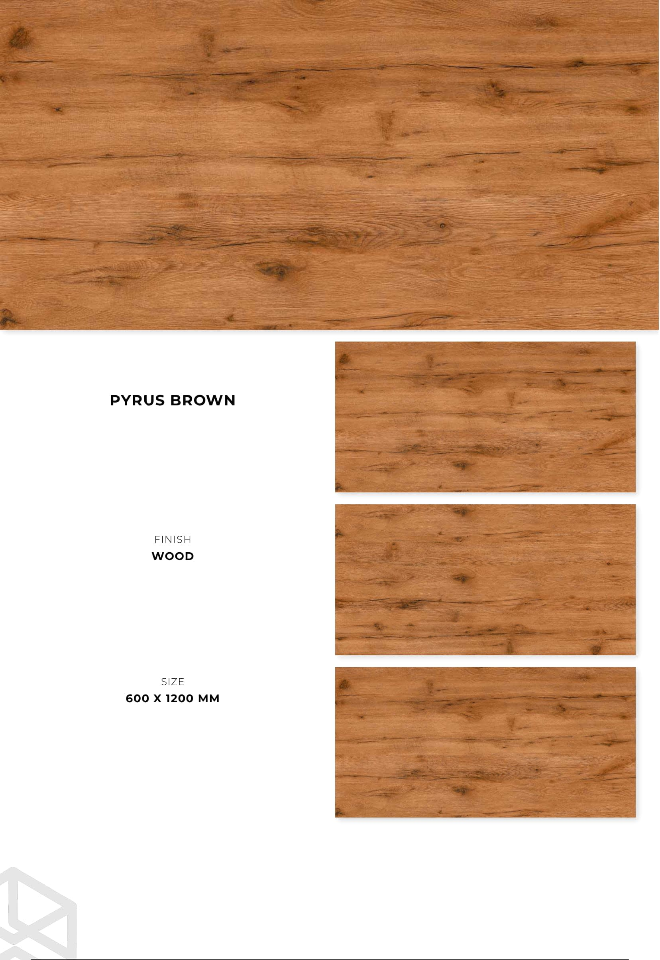 PGVT - GVT 600 X 1200 MM Wood