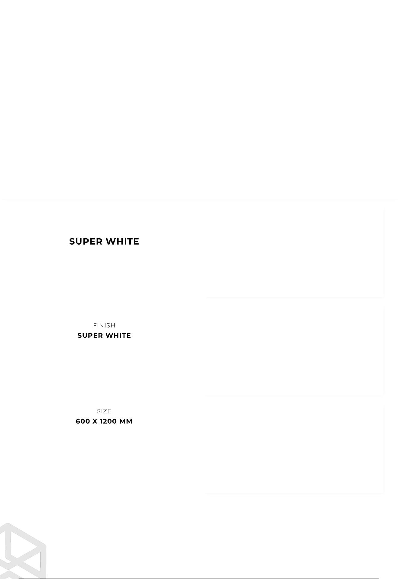PGVT - GVT 600 X 1200 MM Super White