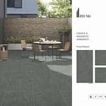 cerajot ceramic fossil black outdoor tiles